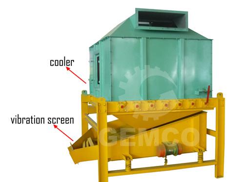 viberating screen of pellet plant